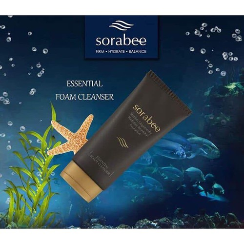 Mua 1 tặng 1 sữa rửa mặt collagen sao biển sorabee essential foam cleanser 150g sẽ được tặng bông rửa mặt sorabee 100k