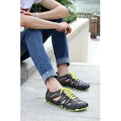 Giày nhựa kiểu dáng thể thao đi mưa đi biển dành cho nam