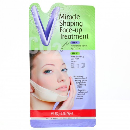 Mặt nạ v line cẳm cổ purederm miracle shaping face-up treatment 5g