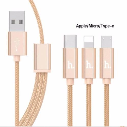 Cáp sạc 3 đầu hoco x2 lightning micro usb type c dây sạc điện thoại chính hãng cho androi iphone - 17392552 , 20661248 , 15_20661248 , 92000 , Cap-sac-3-dau-hoco-x2-lightning-micro-usb-type-c-day-sac-dien-thoai-chinh-hang-cho-androi-iphone-15_20661248 , sendo.vn , Cáp sạc 3 đầu hoco x2 lightning micro usb type c dây sạc điện thoại chính hãng cho a