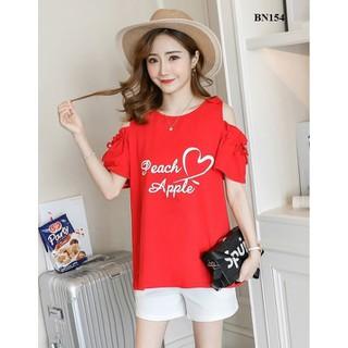 Bộ đồ bầu sooc ngắn, áo hở vai cá tính trẻ trung Quảng Châu - BN154 thumbnail