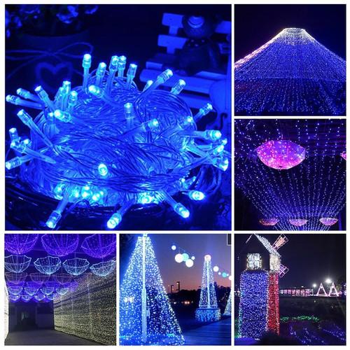 Sét 10 dây đèn led trang trí chớp - xanh dương