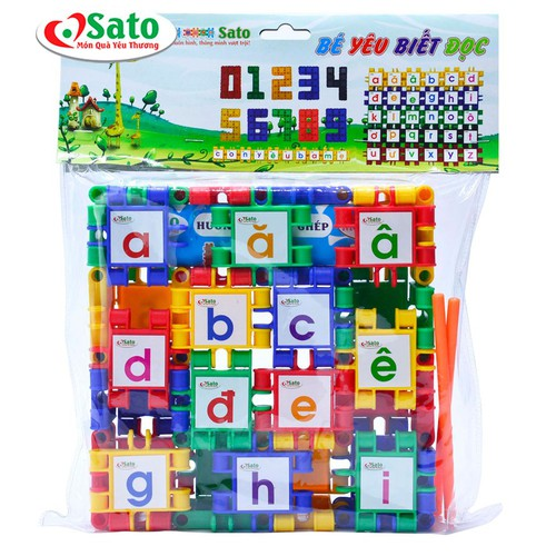 Đồ chơi lắp ghép bé yêu biết đọc cho bé học chữ cái và số đếm sato - 12759595 , 20668547 , 15_20668547 , 118000 , Do-choi-lap-ghep-be-yeu-biet-doc-cho-be-hoc-chu-cai-va-so-dem-sato-15_20668547 , sendo.vn , Đồ chơi lắp ghép bé yêu biết đọc cho bé học chữ cái và số đếm sato