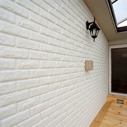 Bộ 10 Tấm Xốp dán tường 3D trắng 70 x 77 X 5mm