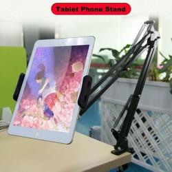 Giá đỡ, đế kẹp điện thoại iPad có chân kẹp đầu giường, cạnh bàn
