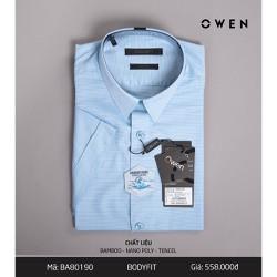 Áo sơ mi nam Owen Áo sơ mi cộc tay 80190
