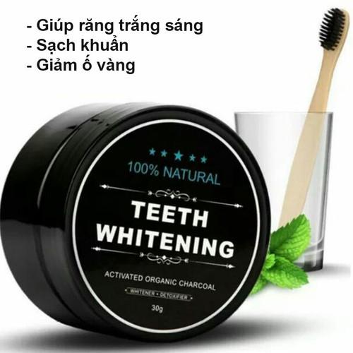 Combo 3 bột đánh răng hoạt tính than tre teeth whitening 30gr, bột làm trắng răng, kem đánh răng ga-cbbr01 - 12756323 , 20663682 , 15_20663682 , 135000 , Combo-3-bot-danh-rang-hoat-tinh-than-tre-teeth-whitening-30gr-bot-lam-trang-rang-kem-danh-rang-ga-cbbr01-15_20663682 , sendo.vn , Combo 3 bột đánh răng hoạt tính than tre teeth whitening 30gr, bột làm trắn