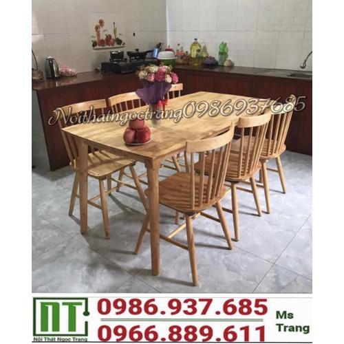 Bộ bàn ghế phòng ăn gia đình giá rẻ