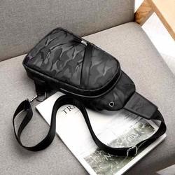 Túi đeo chéo đen rằn ri tiện ích thời trang - Ken Store