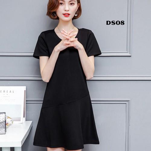 Đầm dáng xòe màu đen dễ thương ds08