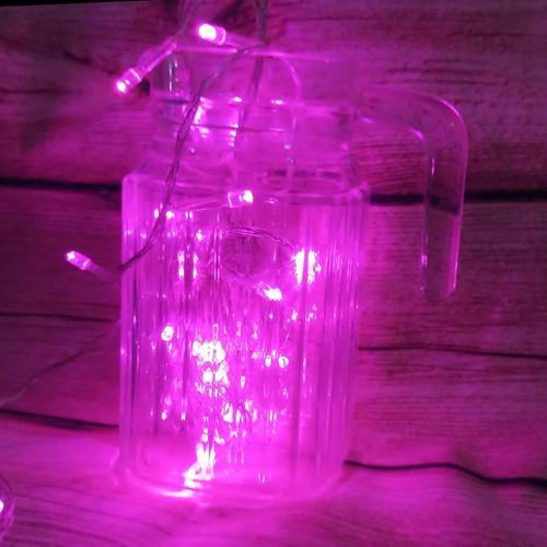 Sét 10 dây đèn led trang trí không chớp - hồng