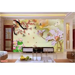 Tranh dán tường 3D in khổ lớn rẻ Zalo 0967959399