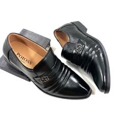 Giày tây nam da bò cao cấp , đế cao su [ Bảo hành 1 năm ] co link video sản phẩm
