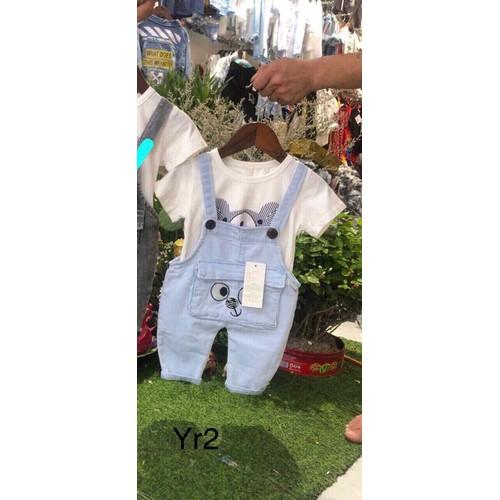 Quần yếm jean em bé quảng châu