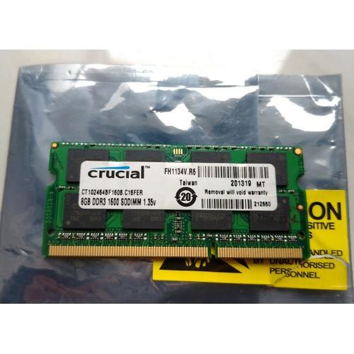 Ram laptop ddr3 16gb 8gb x 2 bus 1600 mhz