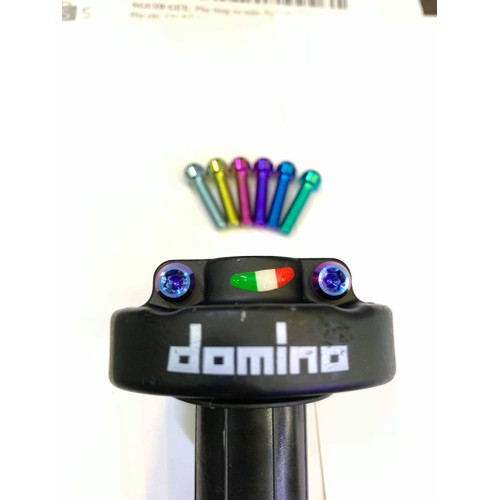 Ốc titan 5li20 đầu trụ gắn cùm tăng domino , uma , daytona và các vị trí khác cùng kích thước