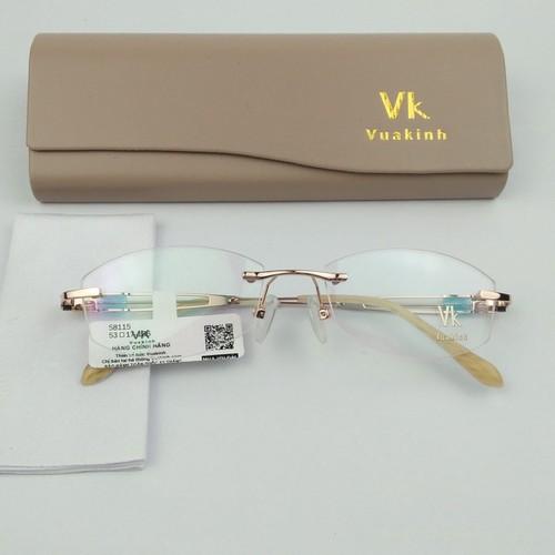 Gọng kính cận không viền cao cấp vk01
