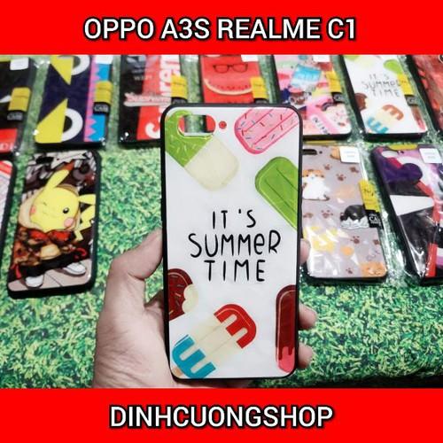 Ốp lưng cho oppo a3s realme c1 vân 3d - soạn mẫu ngẫu nhiên