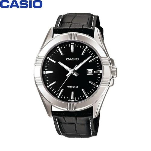 Đồng hồ casio nữ -  dây da - đen - ltp-1308l-1avdf
