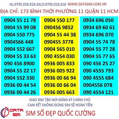 Sim số đẹp mobifone 10 số 090 dễ nhớ giá rẻ 450k-qc