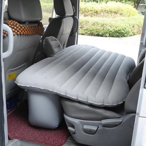 Đệm, nệm hơi ô tô mặt nhung có chắn dùng được cho các xe 4,5,7 chỗ sản phẩm gồm 2 gối, 1 bơm asisi màu xám