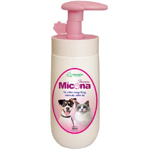 Sữa tắm chp chó mèo- micona shampoo dùng tắm cho chó và mèo ngăn ngừa nấm da, viêm da
