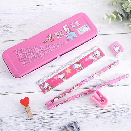 Bộ hộp bút và đồ dụng học tập cho bé 6 món