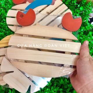 Lót Nồi Gỗ Hình Thú Dễ Thương 20 cm - RẾ NỒI hình CUA, CÁ nhiều mẫu XINH XINH. DỤng cụ bằng gỗ thông tự nhiên, thân thiện môi trường - LNG thumbnail