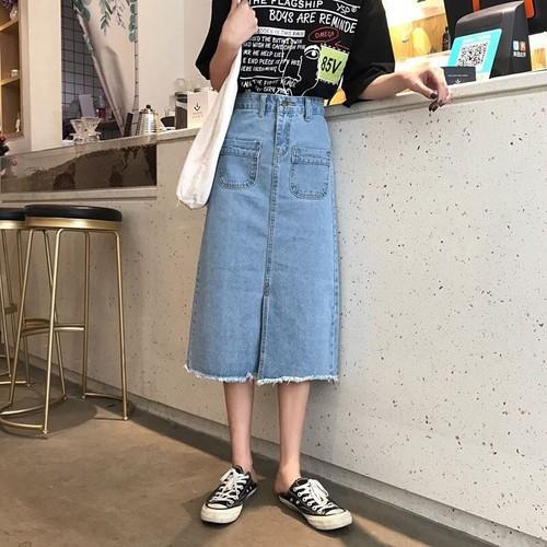 Chân váy jean nữ dài - 12793346 , 20715079 , 15_20715079 , 135000 , Chan-vay-jean-nu-dai-15_20715079 , sendo.vn , Chân váy jean nữ dài