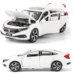 Mô hình xe ô tô Honda civic 2019 tỉ lệ 1:32 xe bằng sắt chạy cót đồ chơi trẻ em