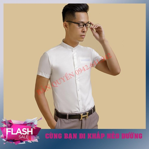Flash sale áo sơ mi nam trắng cổ tàu ngắn tay bổ túi giả mã sp ttg001 chuẩn đẹp wry - 12712737 , 20704705 , 15_20704705 , 172000 , Flash-sale-ao-so-mi-nam-trang-co-tau-ngan-tay-bo-tui-gia-ma-sp-ttg001-chuan-dep-wry-15_20704705 , sendo.vn , Flash sale áo sơ mi nam trắng cổ tàu ngắn tay bổ túi giả mã sp ttg001 chuẩn đẹp wry