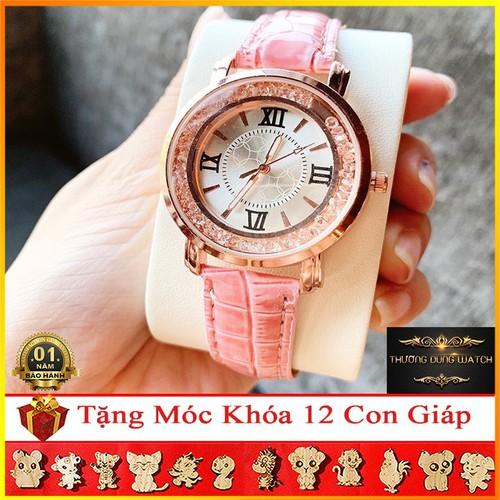 Đồng hồ nữ thời trang kz0135 mặt tròn đá xoay dây da trẻ trung - hồng - 12783422 , 20702257 , 15_20702257 , 198000 , Dong-ho-nu-thoi-trang-kz0135-mat-tron-da-xoay-day-da-tre-trung-hong-15_20702257 , sendo.vn , Đồng hồ nữ thời trang kz0135 mặt tròn đá xoay dây da trẻ trung - hồng