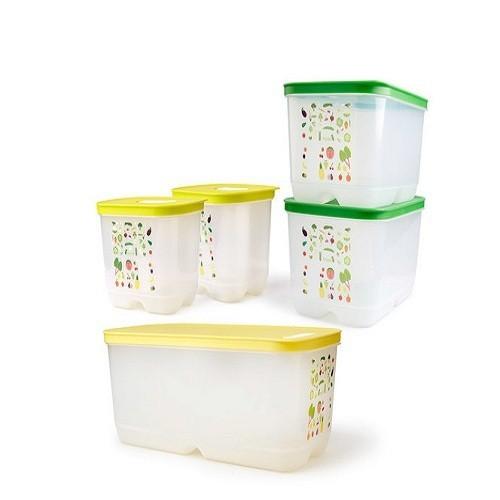 Tupperware bộ 5 hộp trữ mát có nút hô hấp ventsmart