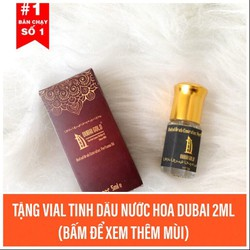 Tinh dầu nước hoa Dubai 5ml tặng vial 2ml tinh dầu nước hoa Dubai có nhiều mùi.