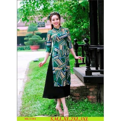 Bộ áo dài cách tân lụa tằm đủ size áo dài + váy - 12789429 , 20709892 , 15_20709892 , 350000 , Bo-ao-dai-cach-tan-lua-tam-du-size-ao-dai-vay-15_20709892 , sendo.vn , Bộ áo dài cách tân lụa tằm đủ size áo dài + váy