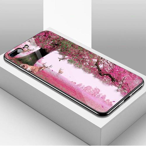 Ốp điện thoại kính cường lực cho máy iphone 7 plus  -  8 plus - vườn hoa ms vhoa013