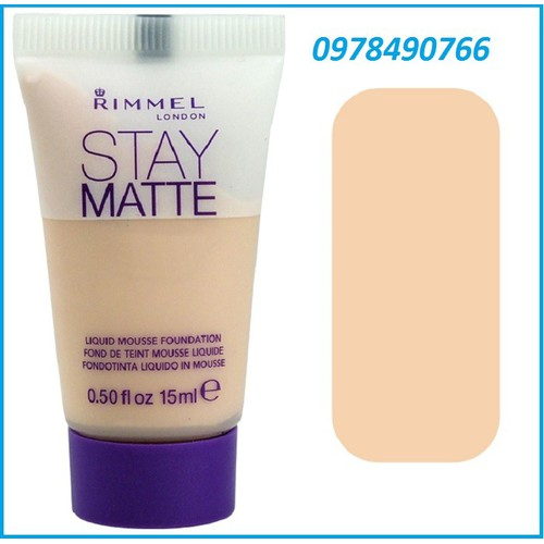 Kem nền rimmel london stay matte primer 30ml