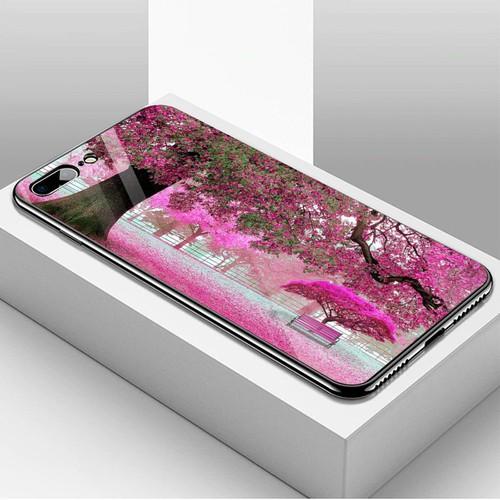 Ốp điện thoại kính cường lực cho máy iphone 7 plus  -  8 plus - vườn hoa ms vhoa014