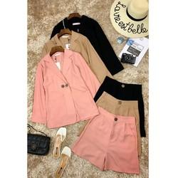 Bộ áo khoác vest blazer tay dài và quần