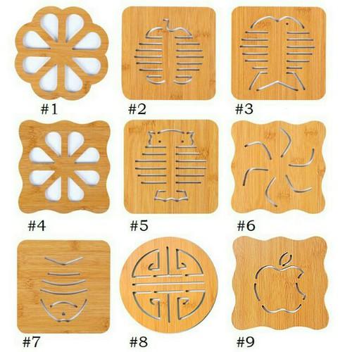 Miếng lót nồi bằng gỗ nhiều hình kt 1515cm