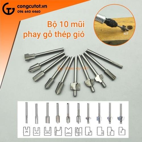 Bộ 10 mũi phay gỗ gt1566 - 12797824 , 20721360 , 15_20721360 , 150000 , Bo-10-mui-phay-go-gt1566-15_20721360 , sendo.vn , Bộ 10 mũi phay gỗ gt1566
