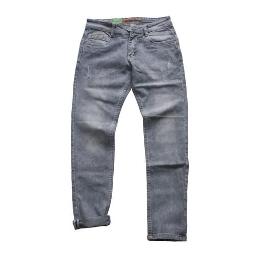 Quần jean nam co giãn ống côn cao cấp tnc002 - màu xám trắng