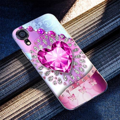 Ốp điện thoại kính cường lực cho máy iphone xr - trái tim tình yêu ms love002