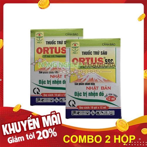 Thuốc trị nhện đỏ ortus hộp 10 gói - set 2 hộp