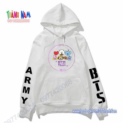 Áo hoodie bts, áo thu đông bts, bt21