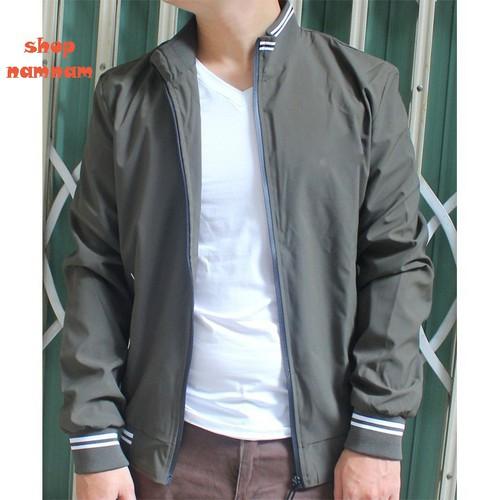 Áo khoác nam màu xanh rêu