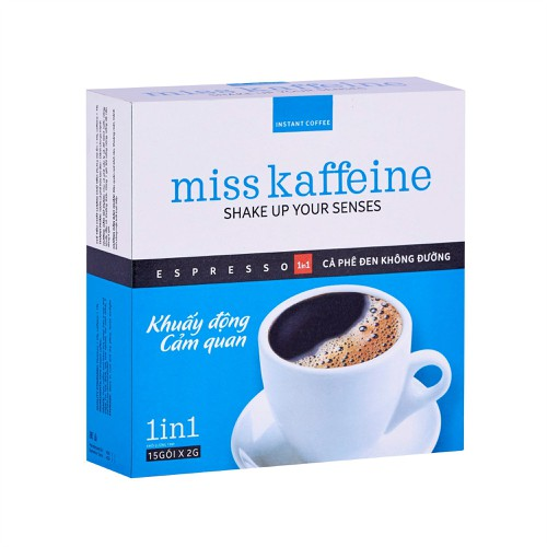 Hộp cà phê hòa tan miss kaffeine 1in1 - đen không đường 15 gói x 2g – the kaffeine coffee - 12815915 , 20744661 , 15_20744661 , 45000 , Hop-ca-phe-hoa-tan-miss-kaffeine-1in1-den-khong-duong-15-goi-x-2g-the-kaffeine-coffee-15_20744661 , sendo.vn , Hộp cà phê hòa tan miss kaffeine 1in1 - đen không đường 15 gói x 2g – the kaffeine coffee