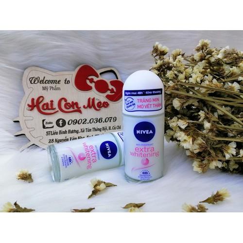 Lăn ngăn mùi nivea trắng mịn mờ vết thâm extra whitening 50ml - 12802234 , 20727017 , 15_20727017 , 90000 , Lan-ngan-mui-nivea-trang-min-mo-vet-tham-extra-whitening-50ml-15_20727017 , sendo.vn , Lăn ngăn mùi nivea trắng mịn mờ vết thâm extra whitening 50ml