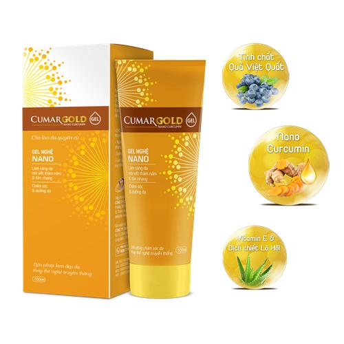 Cumargold gel - tái tạo tổn thương da, dưỡng trắng ,da chống lão hóa,trị thâm nám