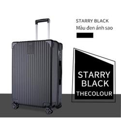 Vali khung nhôm 24inch STARRY BLACK bánh xe đa hướng